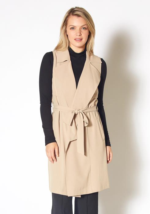 Pleione Sleeveless Trench Vest