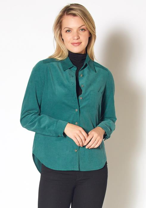 Pleione Button Up Corduroy Shirt
