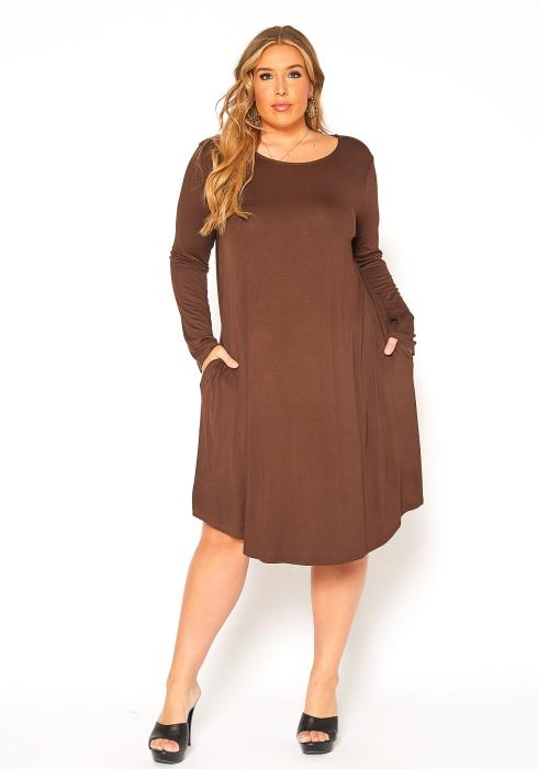Asoph Plus Size Midi Tunic Dress