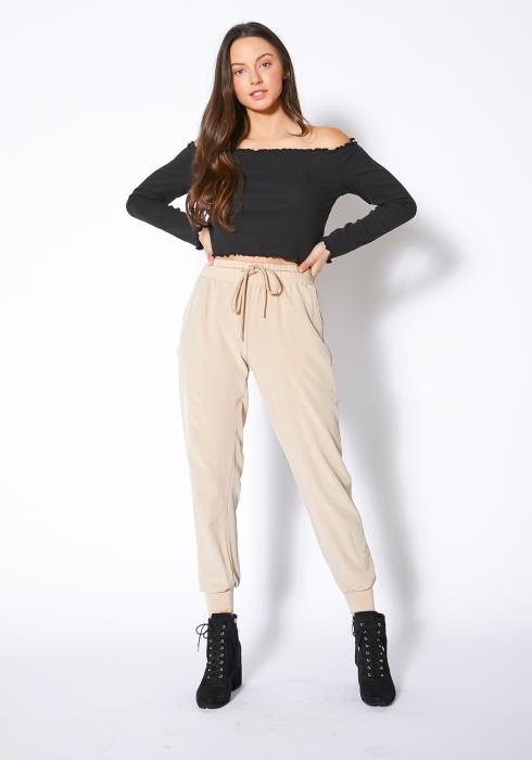 Tansy Everyday Stone Washed Fitted Women Joggers