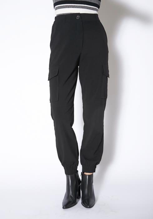 Tansy Womens Black Lightweight Cargo Pants