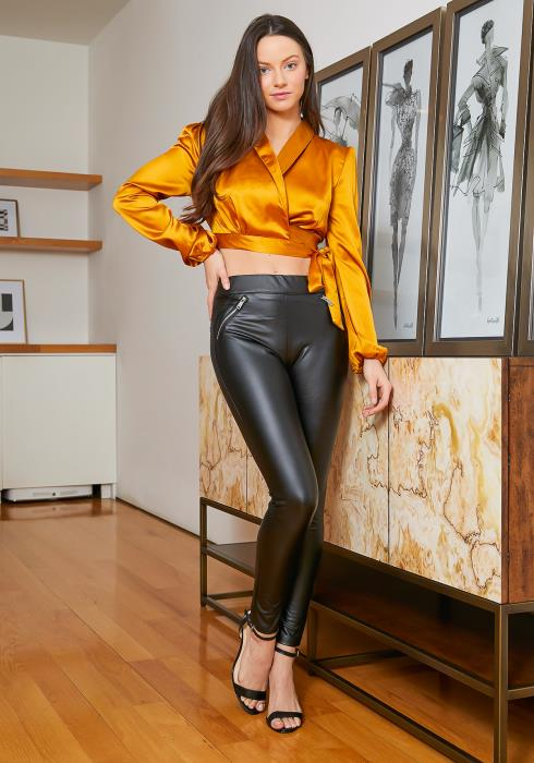 Tansy Faux Leather Womens Moto Skinny Pants
