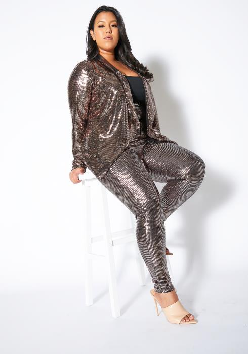 Asoph Plus Size All About Sequin Pants