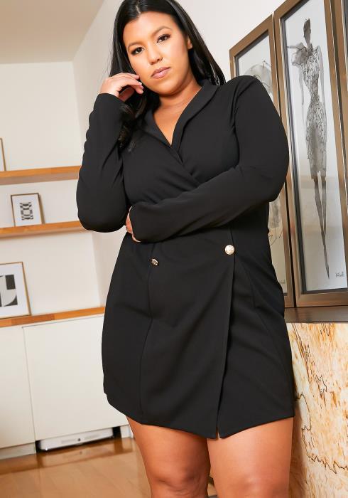Asoph Plus Size Boss Lady Blazer Dress