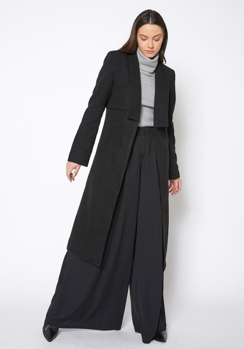 Ro & De Wool Fleece Blended Shawl Collar Coat