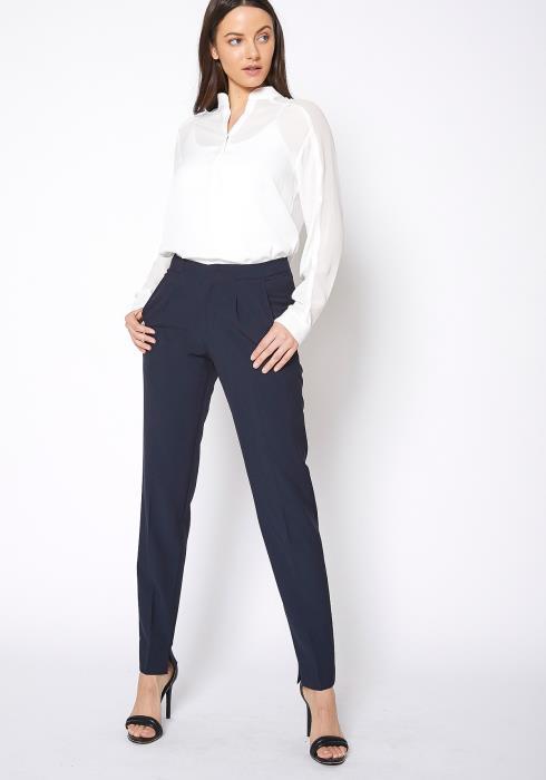 Ro & De Stretch Gabardine Mid Rise Dress Pants