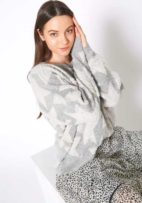 Tansy Super Star Cozy Knit Womens Sweater