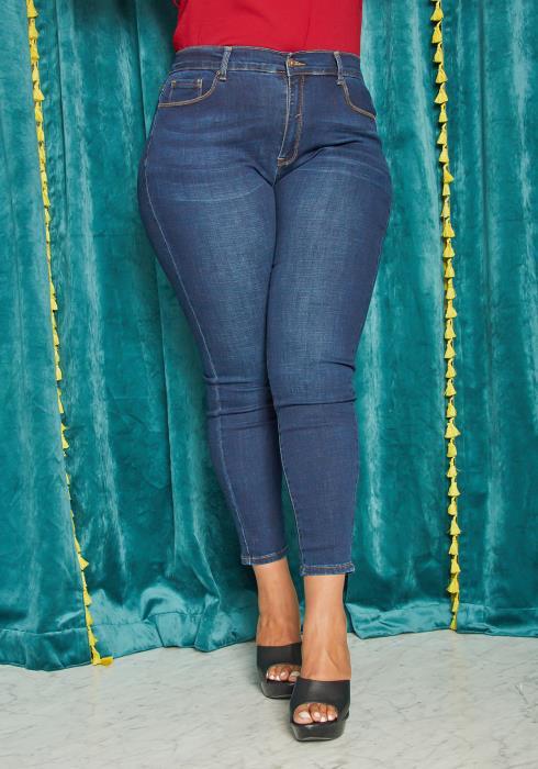 Asoph Plus Size Dark Wash Skinny Jean