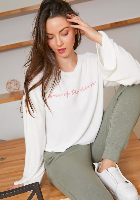 Tansy None Of The Above Womens Graphic Sweater