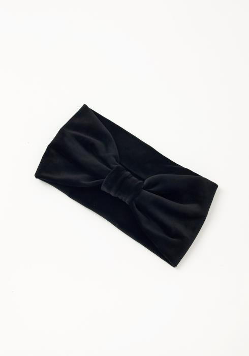 Asoph Pretty Bow Cuffed Womens Black Fleece Headband