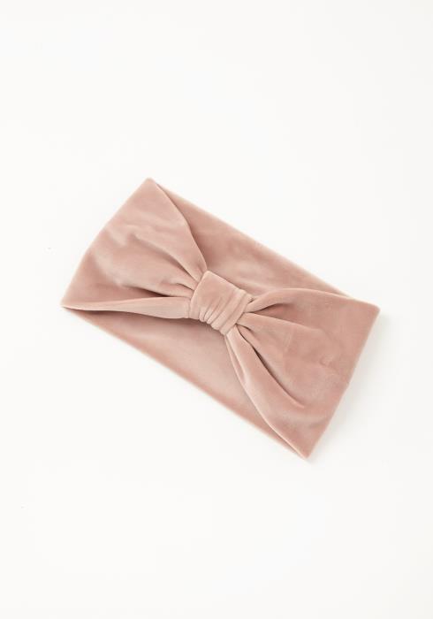 Asoph Pretty Bow Cuffed Womens Pink Fleece Headband