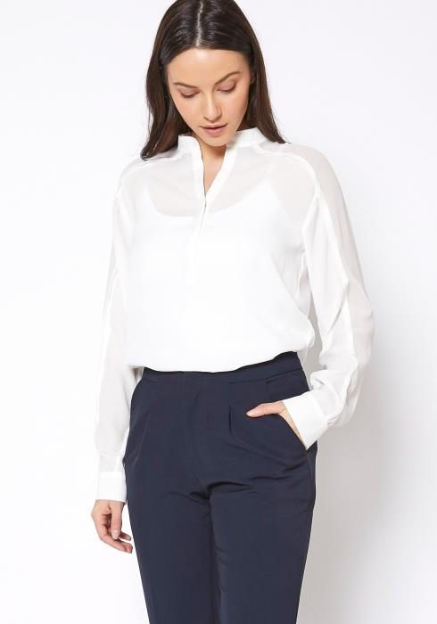 Ro & De Mandarin Collar Shirt Blouse
