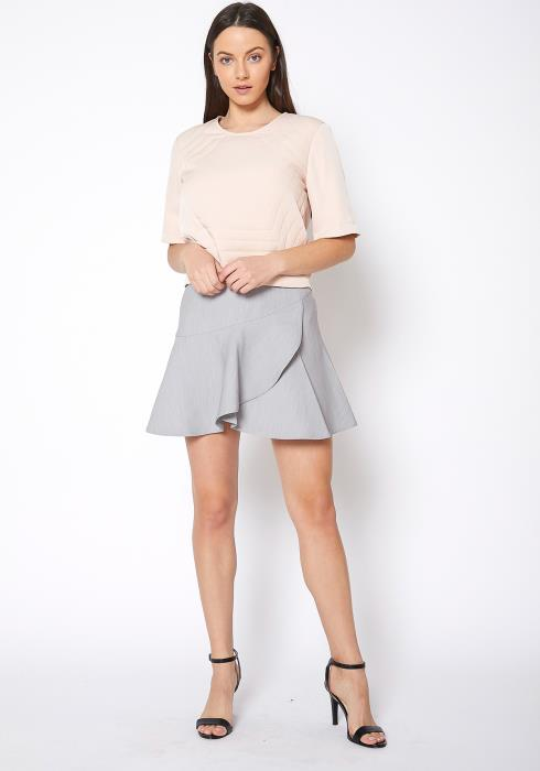 Ro & De Mini A Line Ruffle Skirt