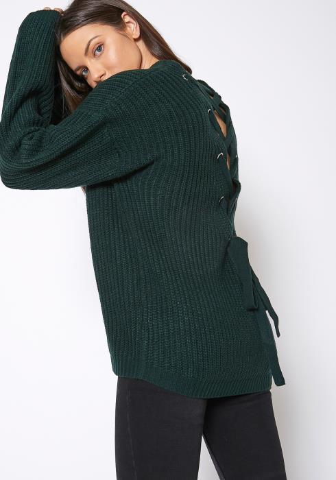 Pleione Cross Back Oversized Sweater