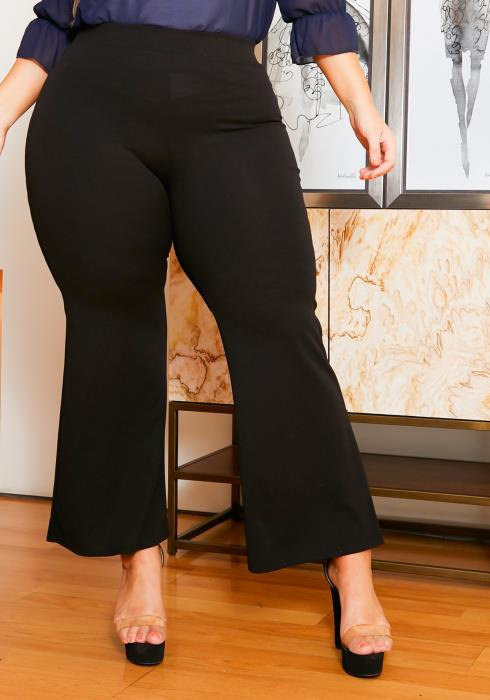 Asoph Plus Size Bell Flared Stretchy Pants