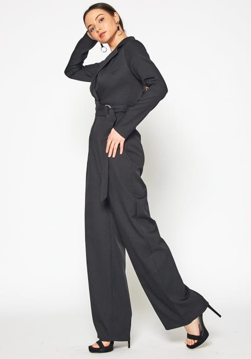 Tansy Professional Womens Notch Collar Jumpsuit