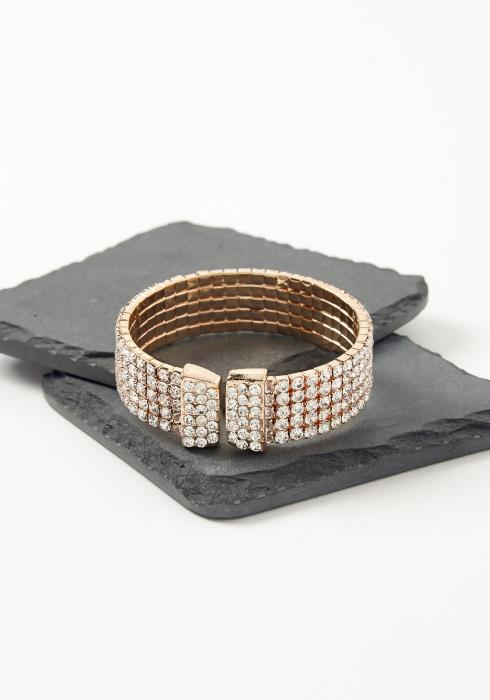 Asoph Edessa Diamond Lock Bracelet Cuff