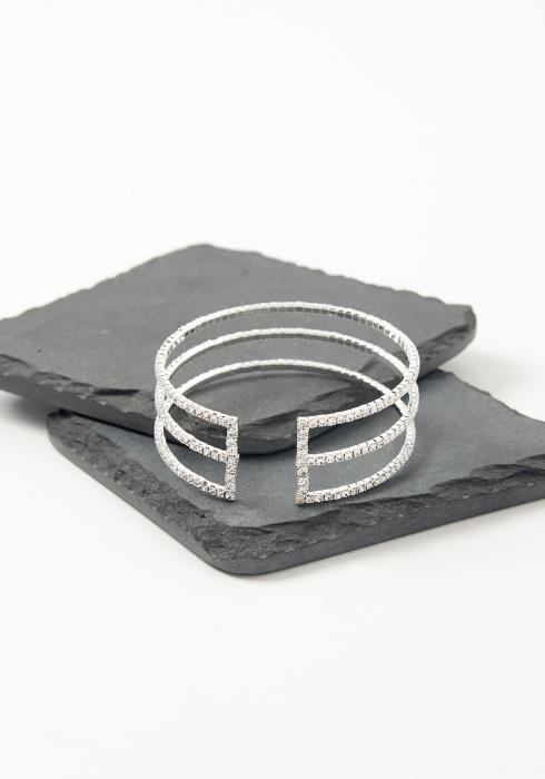 Asoph Athena Rhinestone Cuff Bracelet