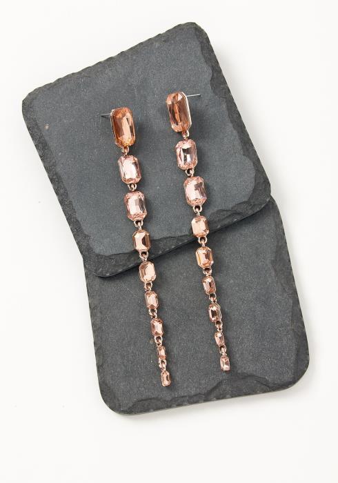 Asoph Chambery Rosey Emerald Cut Drop Earrings