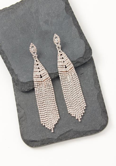 Asoph Toulouse Silver Crystal Tassel Drop Earrings