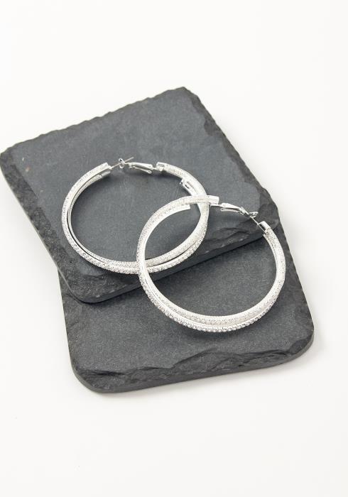 Asoph Alexandria Crystal Hoop Twist Earrings
