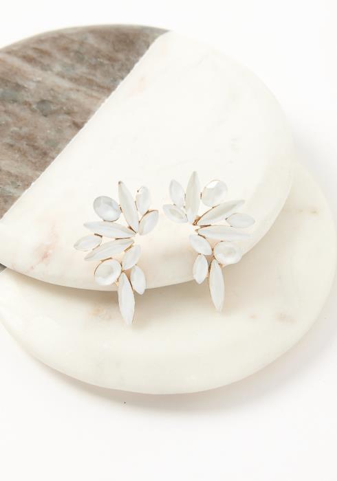 Asoph Ethereal Angel Wing Stone Earrings