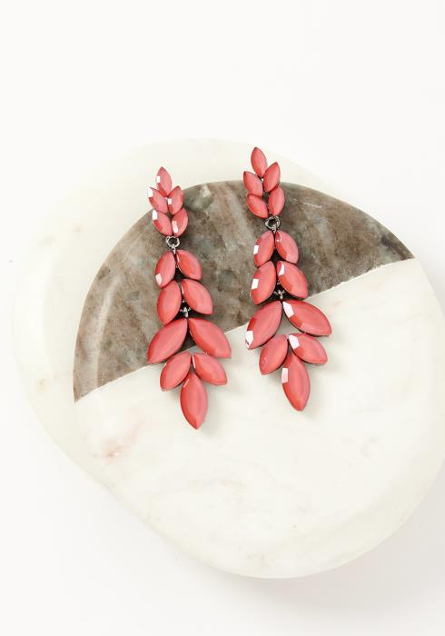 Asoph Montclair Coral Leaf Drop Earrings