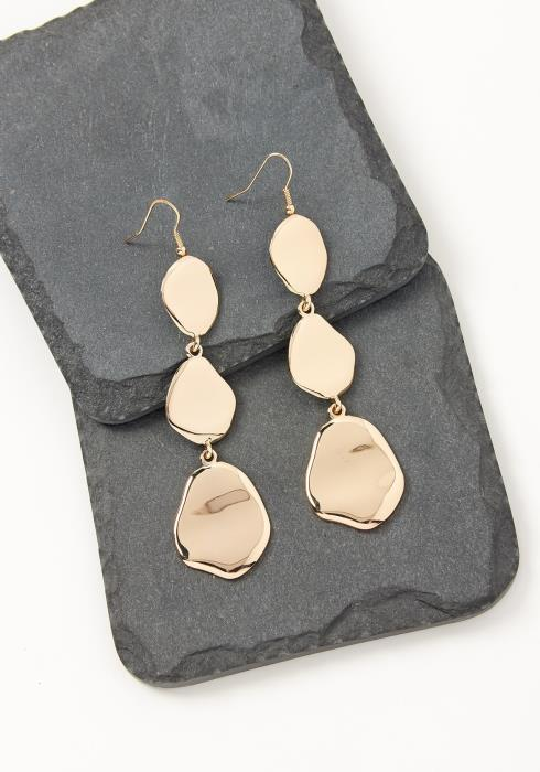 Asoph Golden Lava Plated Drop Earrings