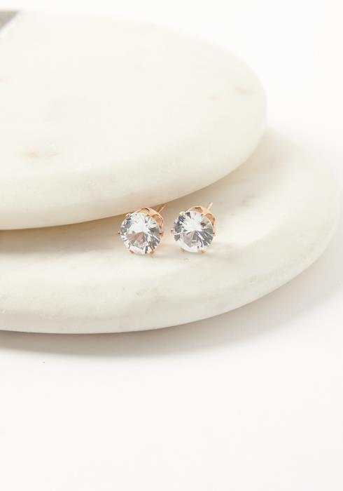 Asoph Zaira Large Cubic Crystal Stud Earrings