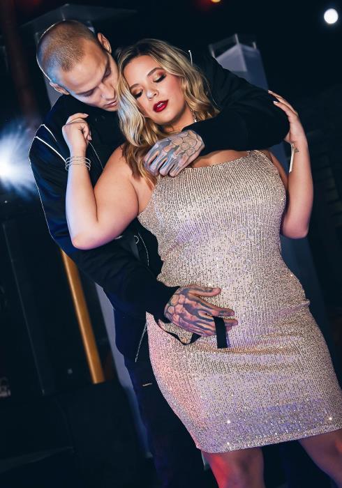 Asoph Plus Size Womens Rose Gold Sequin Tank Mini Dress