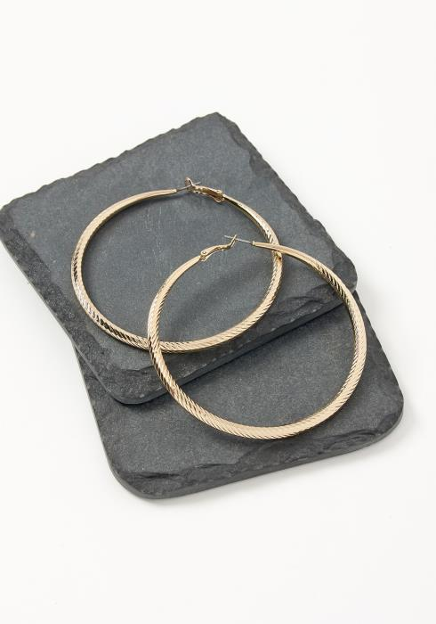 Asoph Serene Spiral Texture Hoop Earrings