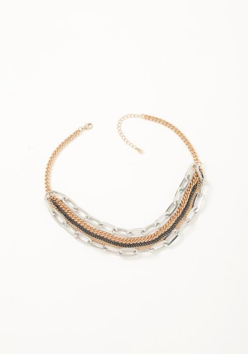 Asoph Santana Silver Chain Layered Necklace