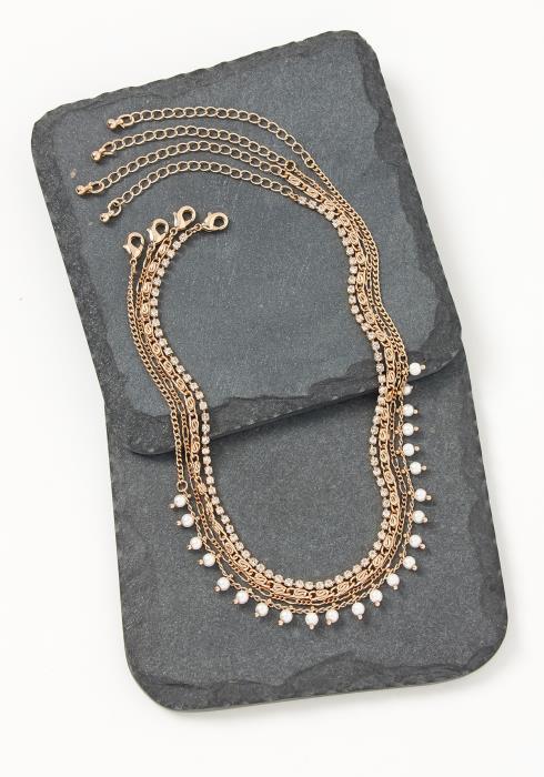 Asoph Sydney Gold Quadruple Anklet Bracelet Set