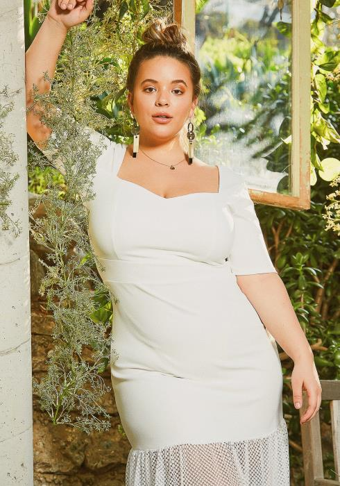 Asoph Plus Size Love Is In The Air Sheer End Maxi Gown