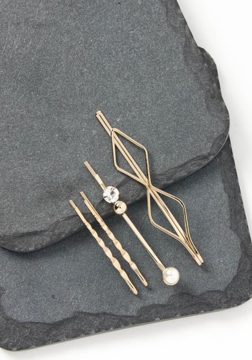 Isadora Triple Class Gold Bobby Pin Set