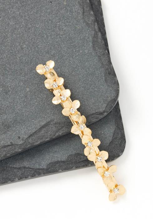 Daisy Matte Gold Floral Vine Hair Clip