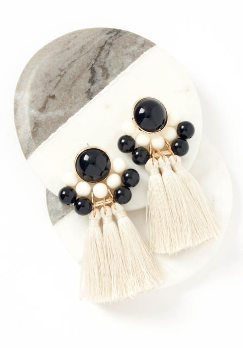 Dior Vintage Bohemian Tassel Earrings