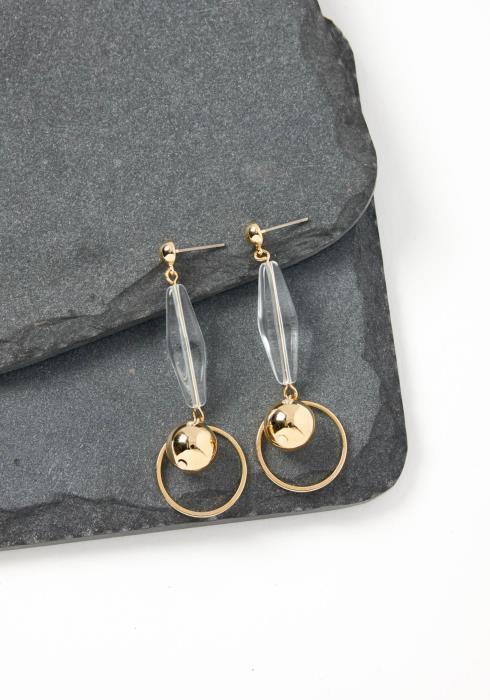 Carina Clear Bead Drop Earrings