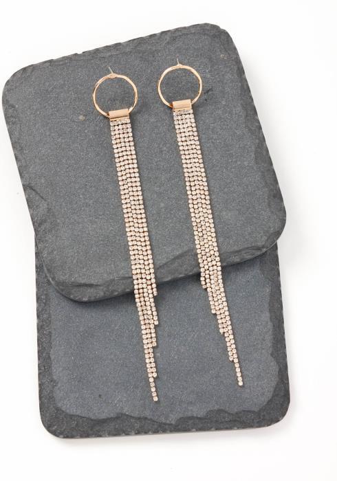 Spencer Gold O Ring Drape Stud Earrings