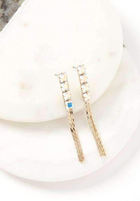 Anais Holographic Crystal Stud Earring
