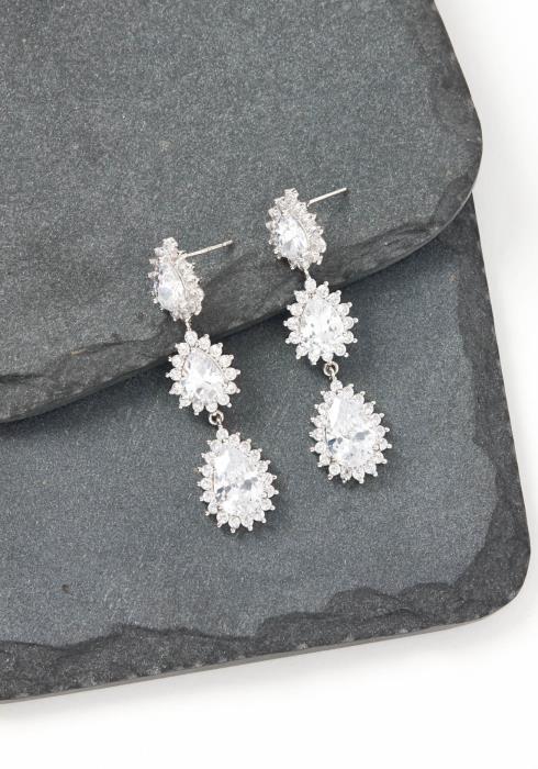 Lauren Silver Jewel Drop Earrings