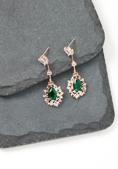 Eva Jade Crystal Drop Earrings