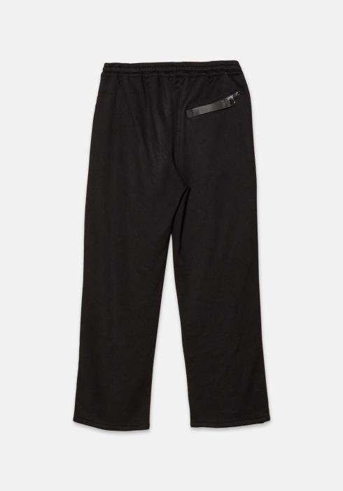 Konus French Terry Wide Sweatpants with Printed Twill Patch
