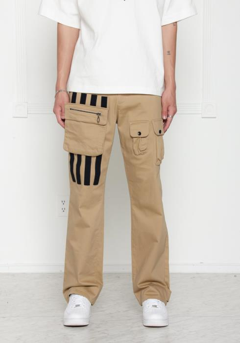 Konus Twill Chino Pants with Removable Cargo Pocket