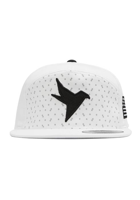 7 Panel Snap Back with Bird Logo and Flag Embroidery