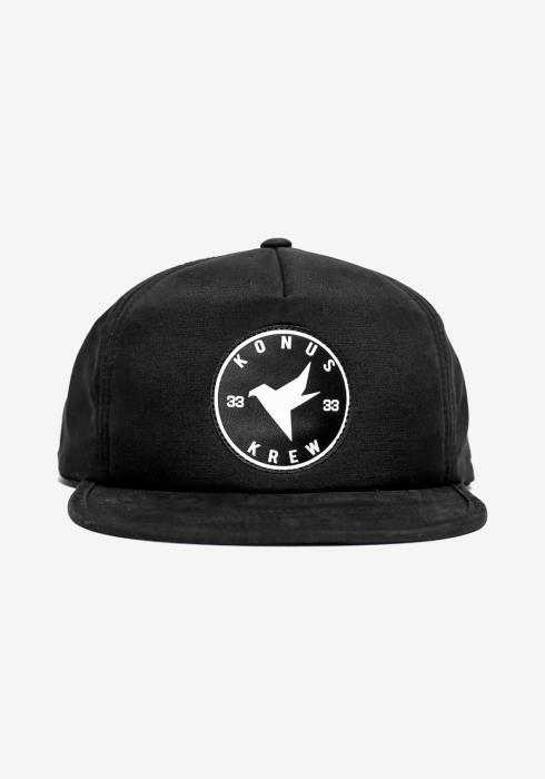 5 Panel Hat with Nylon Tape and Logo Patch