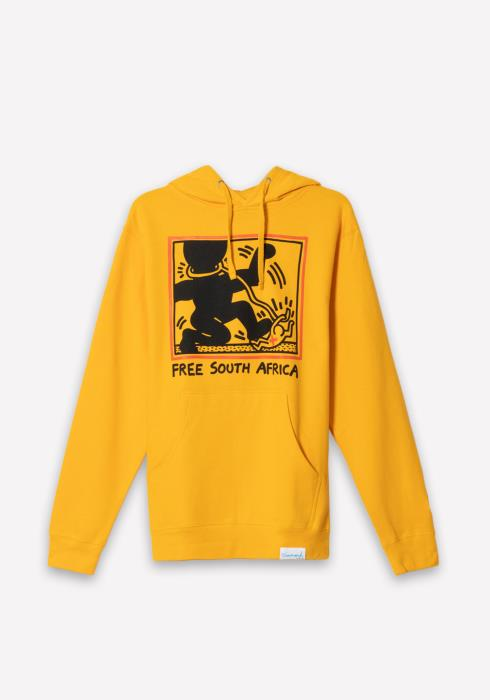 Diamond x Haring South Africa Hoodie in Yellow