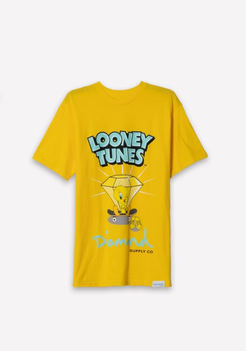 Diamond x Looney Tunes Tweety Skate Tee in Yellow