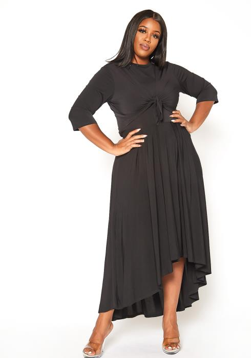 Asoph Plus Size Sleeveless Maxi Dress & Cardigan Set