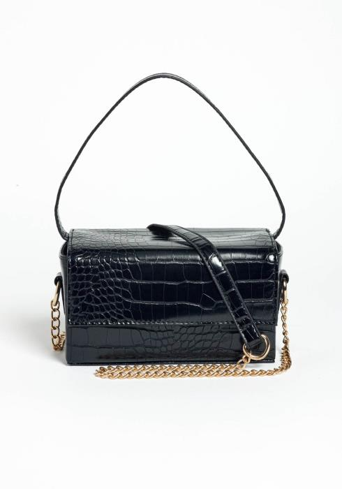 Mystery Box PU Crocodile Texture Crossbody Purse